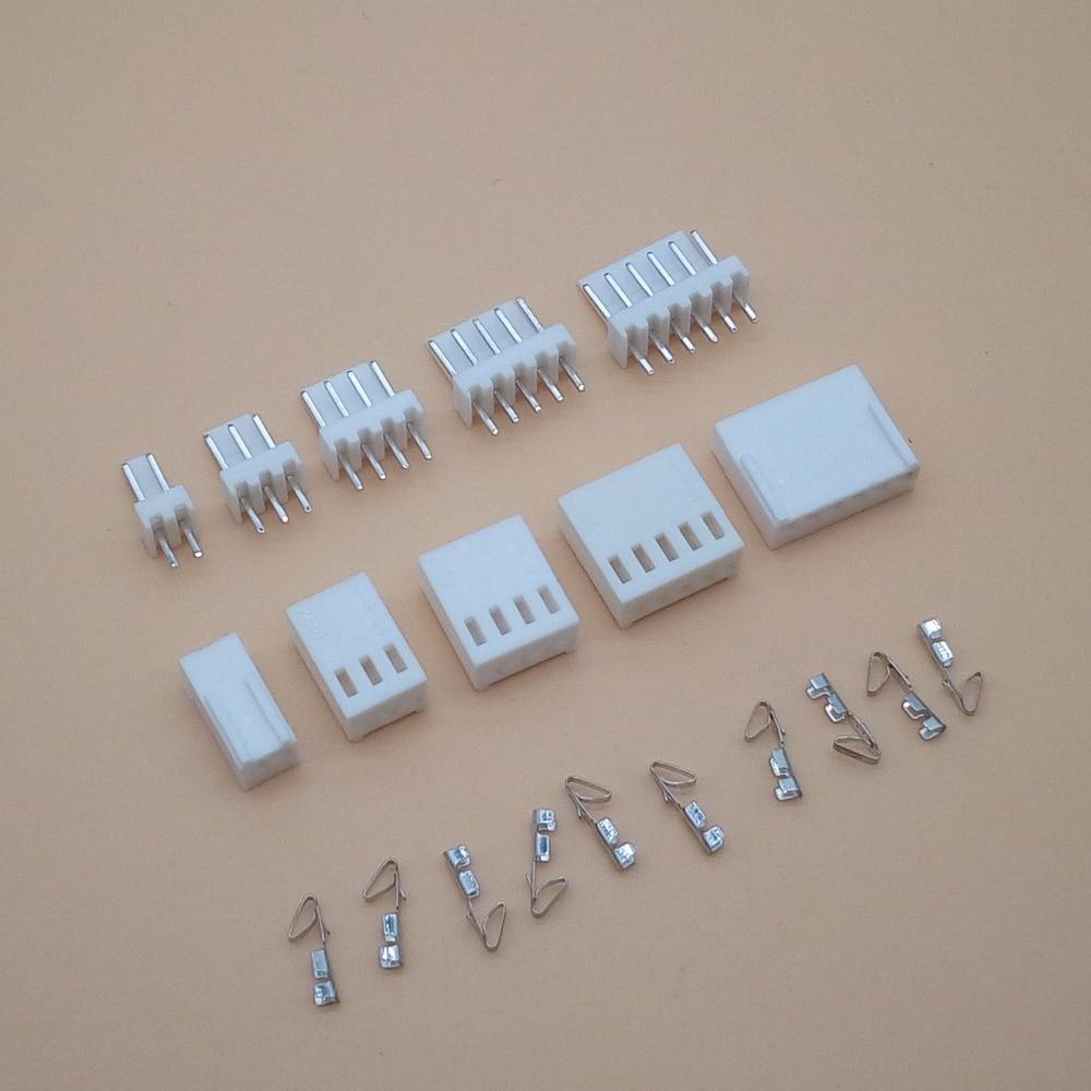 10 Set KF2510 Kits Connector2.54mm Pitch 2/3/4/5/6P Straigh Pin Header+Housing+Crimp 2510