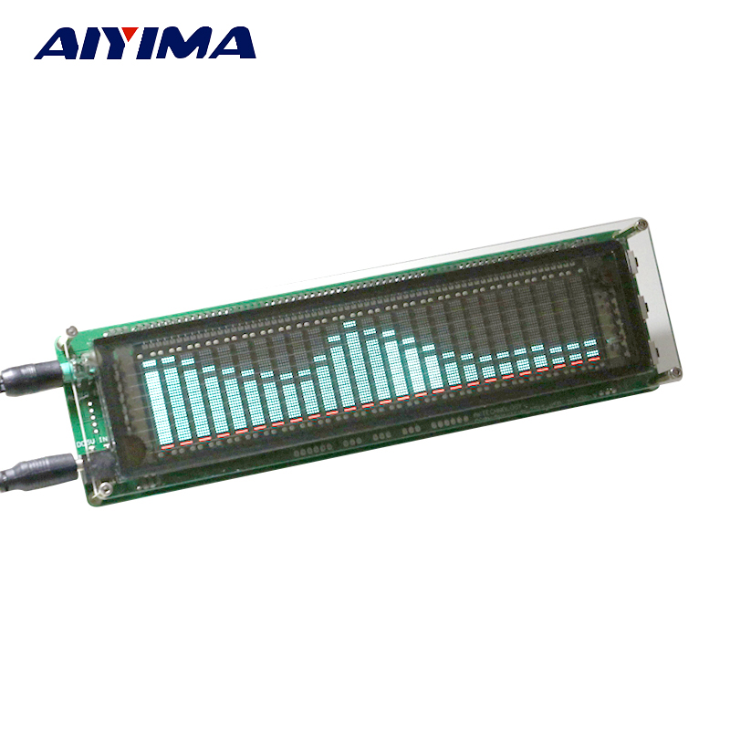 Aiyima 15 Ebene VFD Musik Audio Spektrum anzeige Verstärkerplatine füllstandsanzeige VU Meter Geschwindigkeit Einstellbar AGC Modus Mit Fall