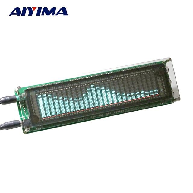 AIYIMA 15 nivel VFD música de espectro de Audio indicador amplificador de indicador de nivel medidor VU de velocidad ajustable AGC modo con el caso