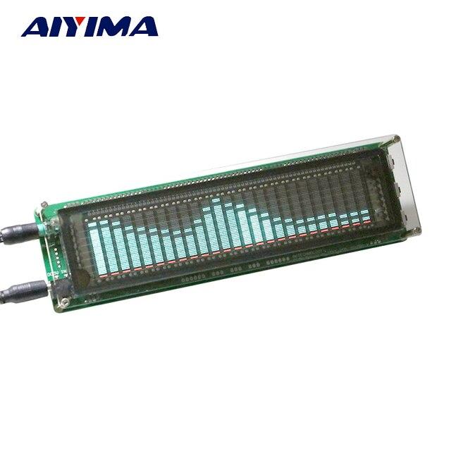 AIYIMA 15 niveles VFD música Indicador de espectro de Audio indicador de nivel de tablero indicador de nivel de VV Velocidad Ajustable modo AGC con funda
