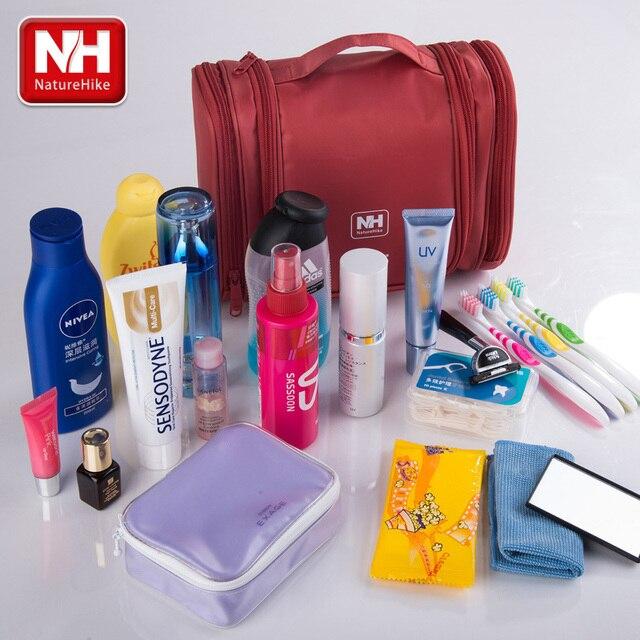 Naturehike Hiking Travel Hanging Cosmetic Bag Wash Toiletry Kit Organizer Large  Capacity 2505f472320ff