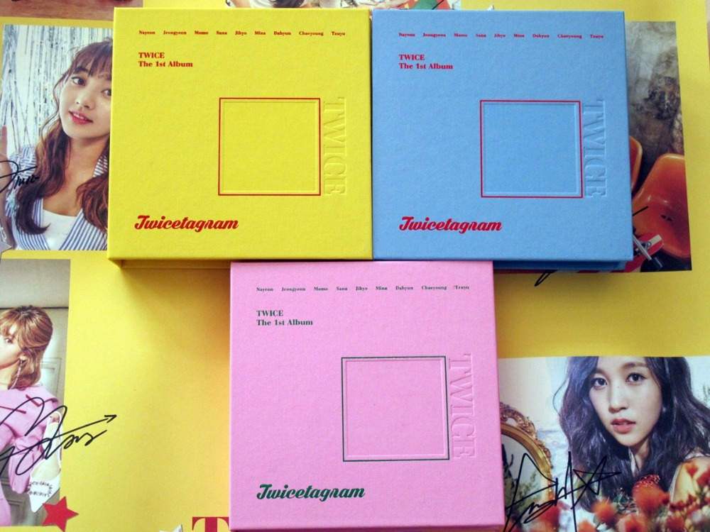 signed TWICE autographed First album LIKEY Twicetagram CD+photobook+signed poster K-POP 112017