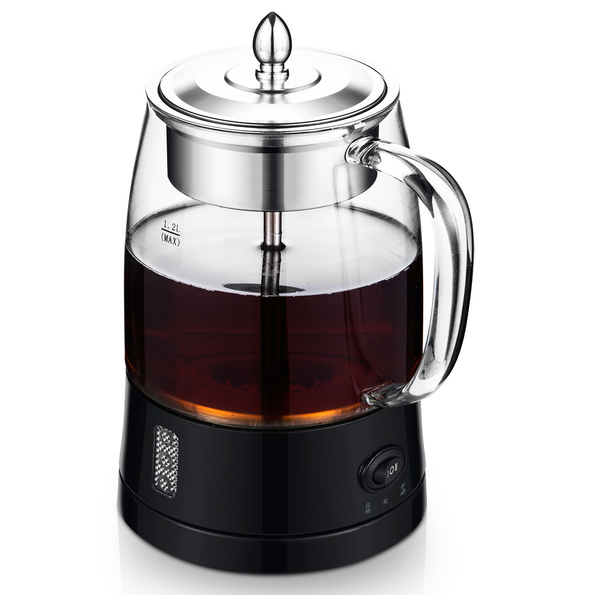 Electric kettle Full automatic steam boiling teapot thermoelectric glass brewed tea ware black black tea brewed machine glass automatic steam boiling pu er flower teapot insulation electric kettle