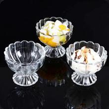 Tableware Transparent Ice Glass Cup Milkshake Beverage Fruit Salad Bowl Glass Home Supplies