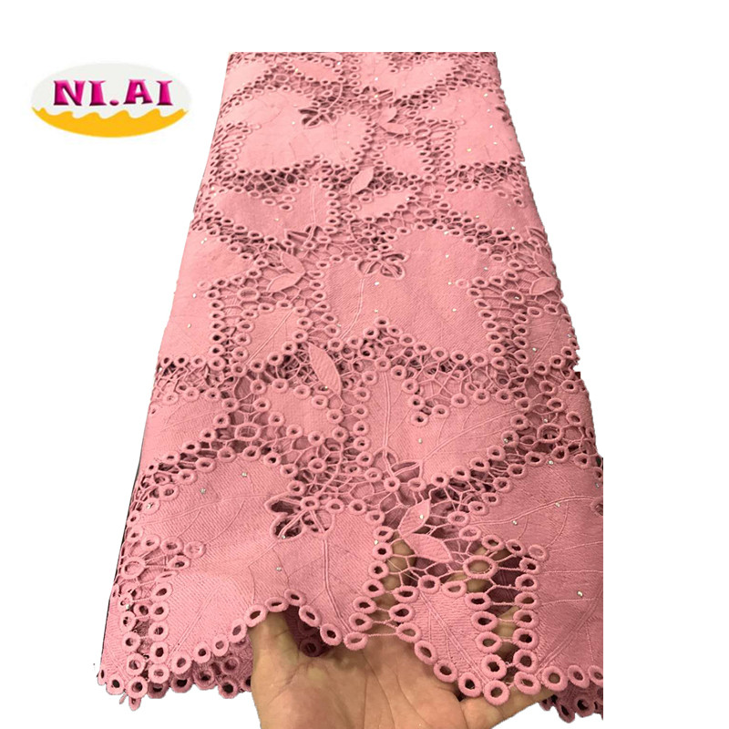 Nigerian Stones Cord Lace Fabric Milk Silk Water Soluble Dress Lace 2019 High Quality Lace African