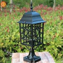 Старинные железная водонепроницаемый наружный настольная лампа чердак настольные светильники бесплатная доставка