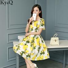 Lemon Party Dress