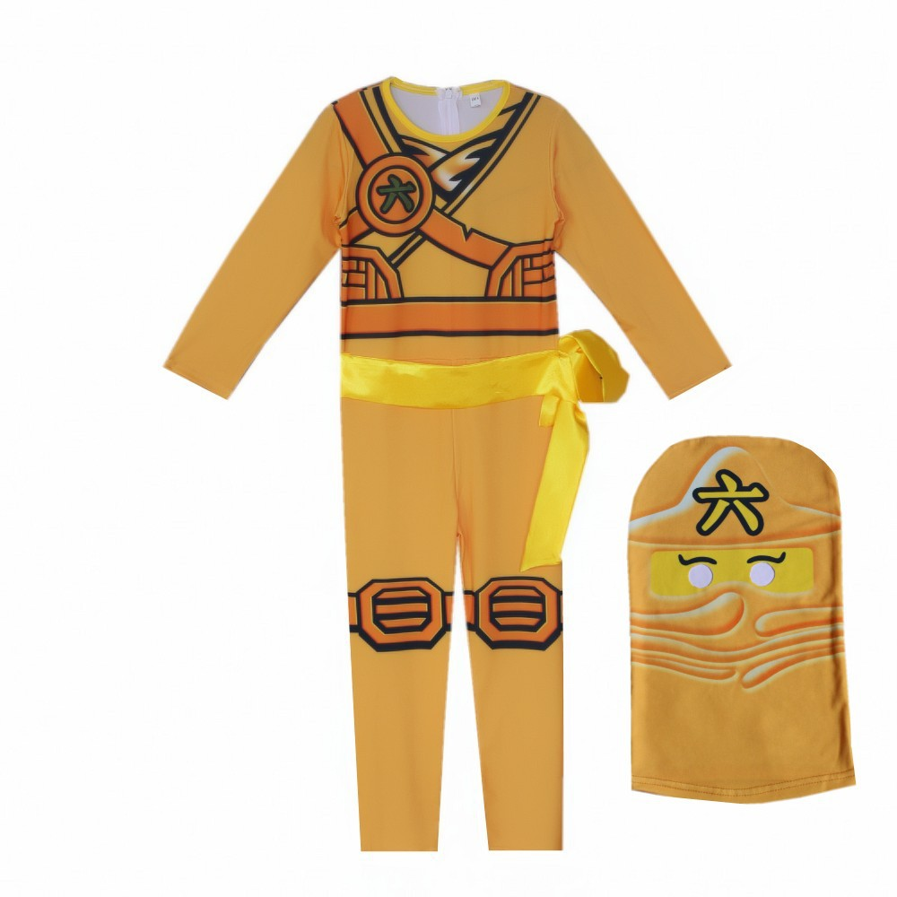 LEGO NINJAGO Advanced Latest Role Playing Costume Boys and Girls Jumpsuit Set Halloween Christmas Party Ninja Superhero 4