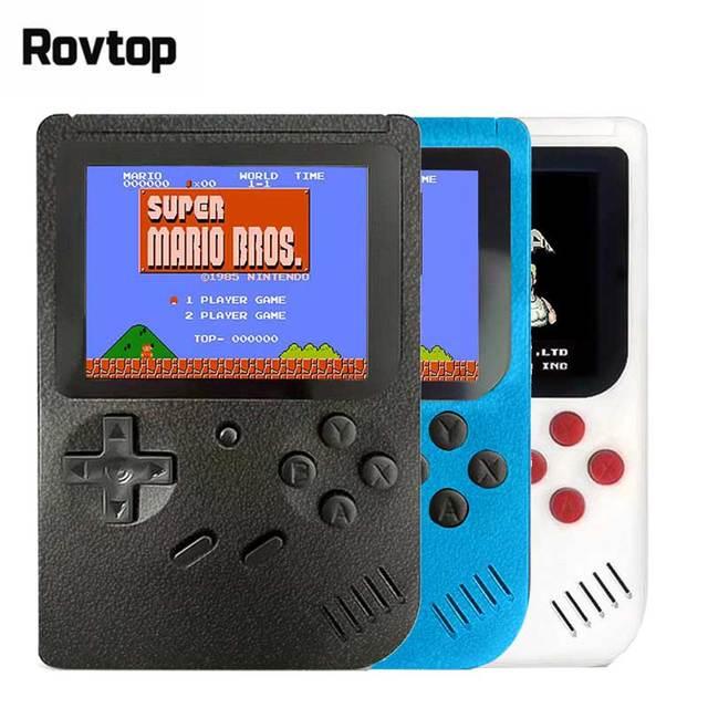 Retro Taşınabilir Mini elde kullanılır oyun konsolu 8-Bit 3.0 Inç Renkli LCD Çocuklar Renk Oyunu Player Dahili 400 oyunlar