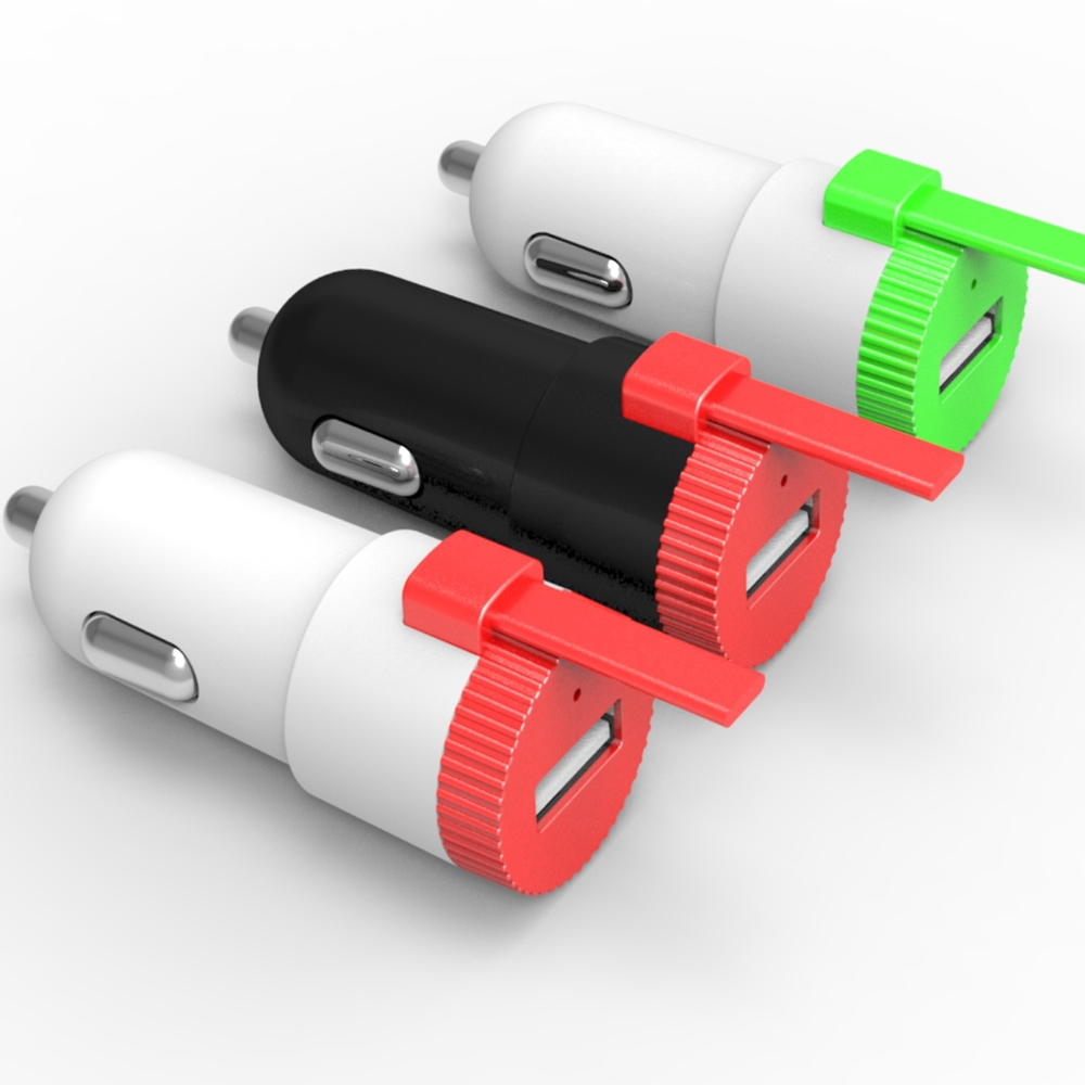 5v 2 4a car charger adapter with 1m micro 8 pin 2in1 cable for iphone 6