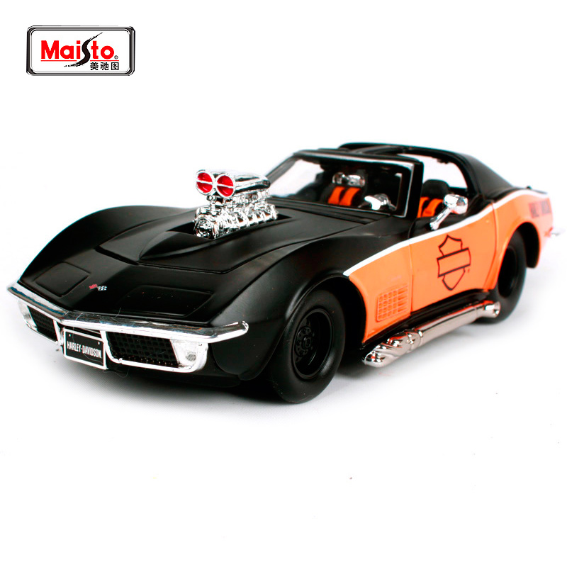 1:24 1970 Chevrolet Corvettes Diecast Model Car Toy New In Box Free Shipping 32193