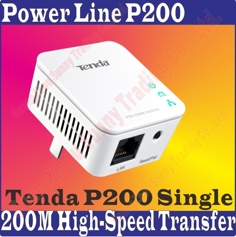 Single Tenda P200 Power line Mini Adapter Extender No Wiring ...