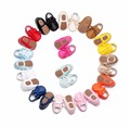 Nuevos colores del caramelo de suela dura zapatos con cordones de la marca de cuero de la pu zapatos de bebé recién nacido niñas franja bebé mocasines zapatos 0-24 m