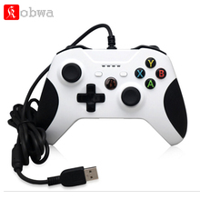 Kobwa game Controller for Xbox One game handle joystick with 4 LED Indicators and 3.5 Audio Jack