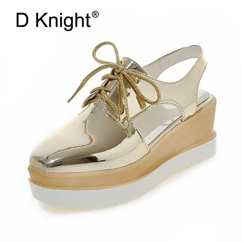 Women Sandals Plus Size 32-43 Fashion Gladiator High Wedges Heel Lady Pumps Rubber Woman Shoes Patent Leather Womens Slingbacks phyanic 2017 gladiator sandals gold silver shoes woman summer platform wedges glitters creepers casual women shoes phy3323