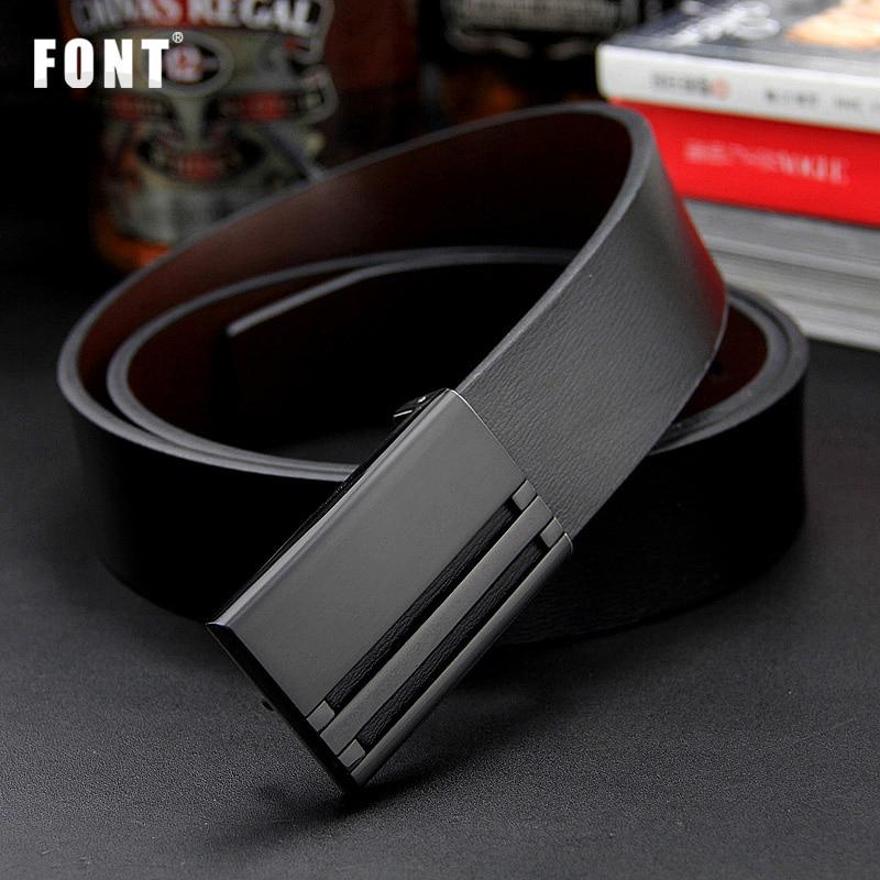 2016 New men's genuine leather belt men cowskin belt formal suit trousers belt double metal buckle strap gift for men belts
