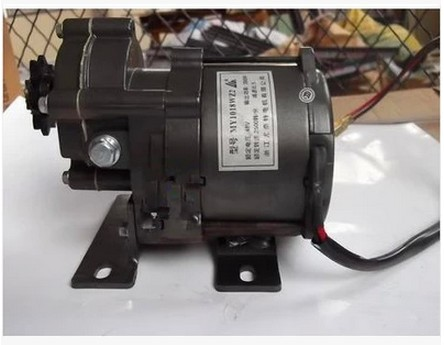 цена на hot sale MY1018WZ 350w 36v brushed DC motor Electric tricycle motors ,electric motor for bike