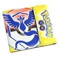 Nova 1 Pcs Chama Pássaro Pokemon IR Cartton Anima PU Carteira Bolsa Dobrável Saco de Presentes de Natal Da Menina do Menino