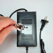 Padrão da ue 36v 1.8a xlr fêmea plug scooter elétrico carregador adaptador de alimentação inteligente para chumbo ácido gel bateria 36v carregador