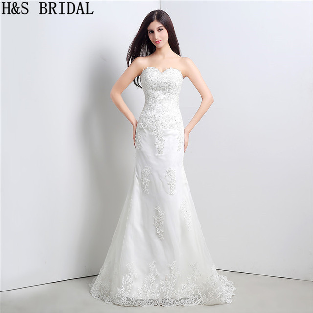 Sayang Cina Wedding Dresses Lace Beaded Wedding Gowns Murah Brides