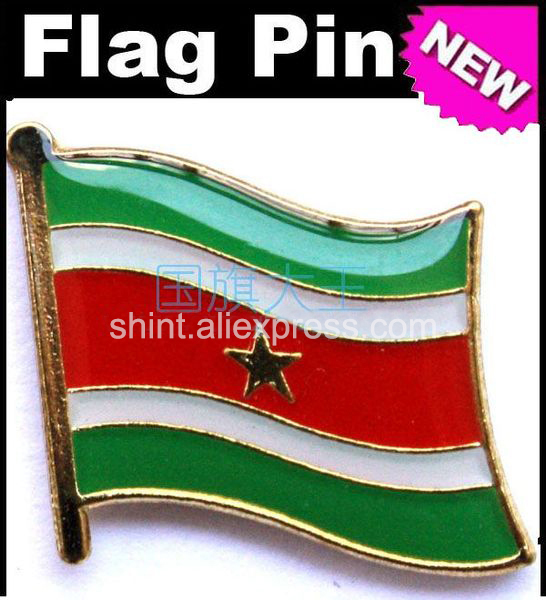 Lapel Pins Suriname Flag Pins All Over The World Badge Emblem Country State Pins