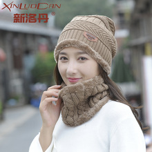 New Fashion Women Warm Winter Set Of Ladies Caps With Scarf Neckerchief Top Quality Wool Balaclava Knitted Hat Scarf Winter Hats