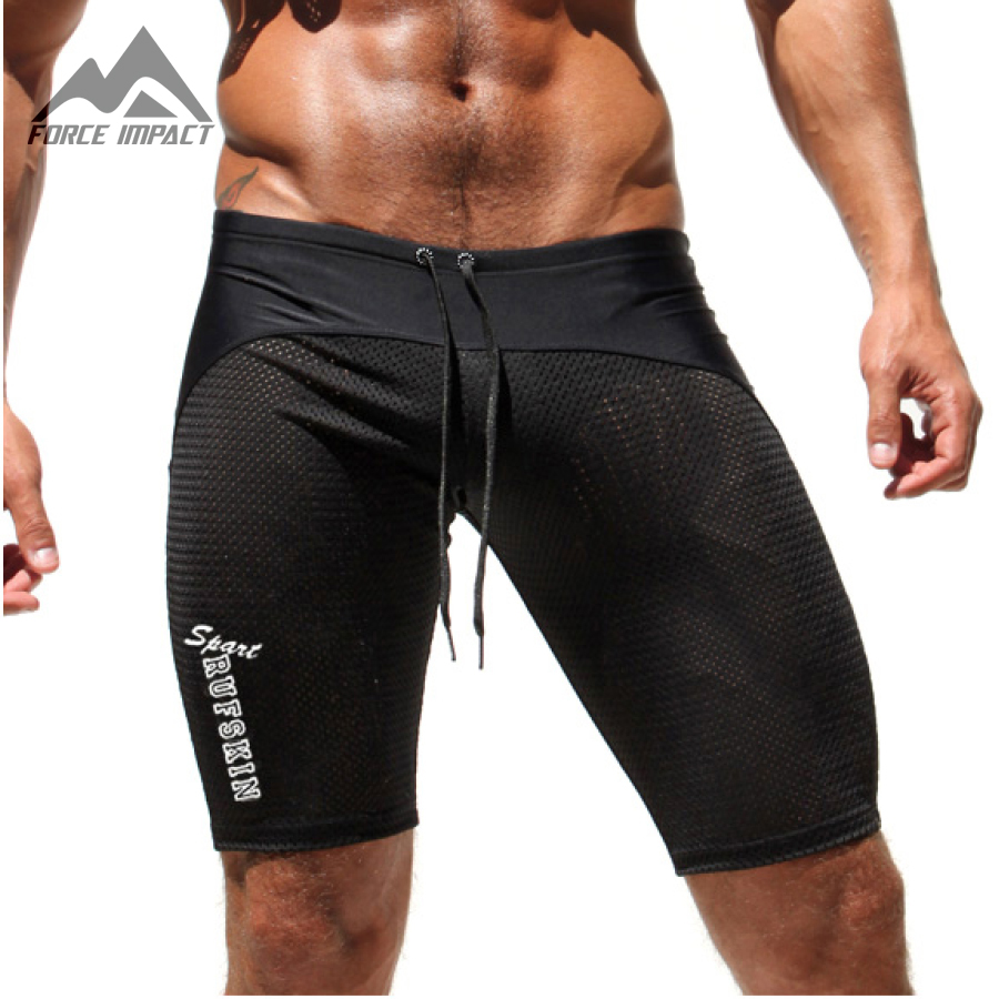 Aimpact Fitted Gymi Tight   Shorts   for Men Bodybuilding Crossfit Workout Muscle   Shorts   Mesh Training Sporty Active Trunks Man AQ11