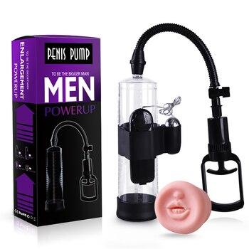 Vibrating Penis Pump Enlarger Developer Erection Sex Toy Penis Enlargement, Penis Extender Enlarger Enhancer Sleeve Device Toy 6