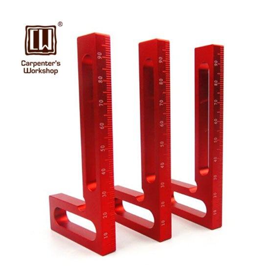 """Cuadrado de 4/"""" pulgadas 100mm probar sin marcar Tri 90 herramienta de carpintero de madera de calidad superior de ángulo"""