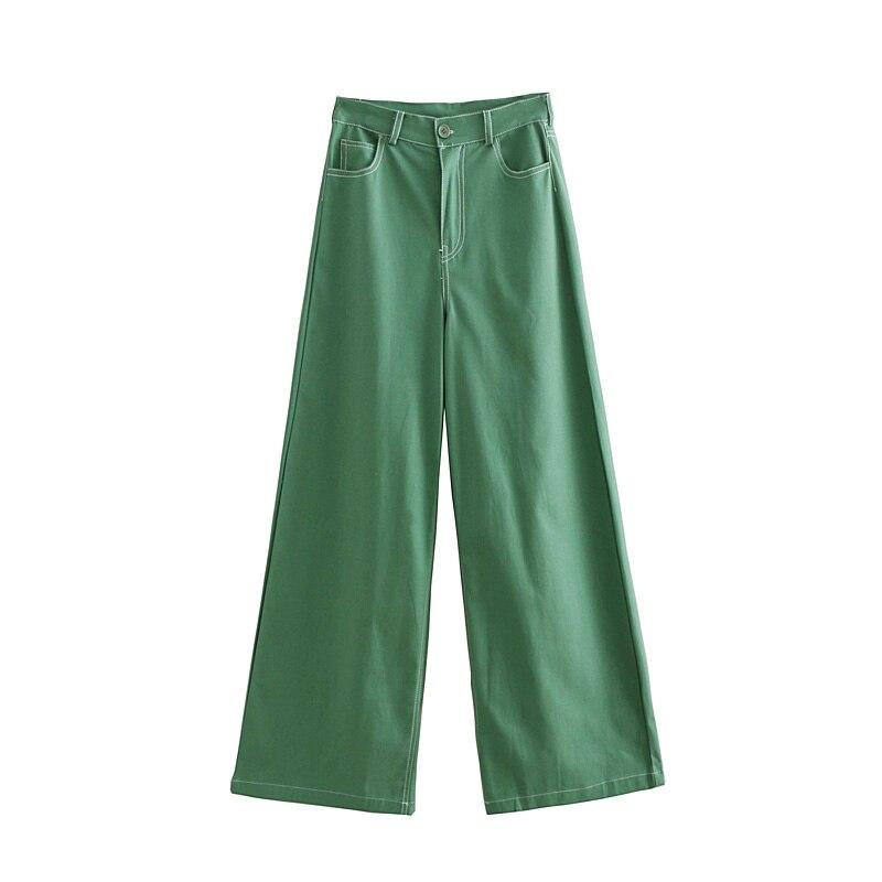 Fall 2018 Women solid color casual   pants     wide     leg     pants