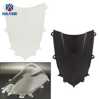 waase Motorcycle Double Bubble Windscreen Windshield Shield Screen For Yamaha YZF R6 2017 2018 2019|Windscreens & Wind Deflectors|   -