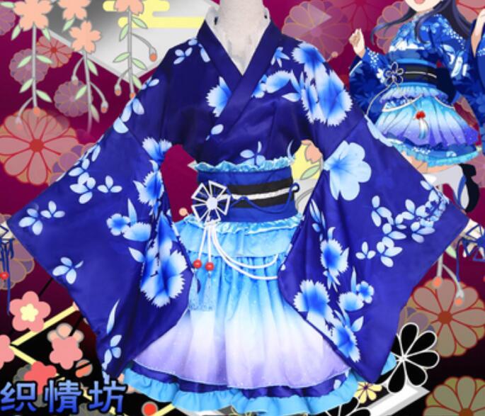 Anime Love Live Cosplay Costumes Kousaka Honoka Sonoda Umi Nishikino Maki Kimono Cosplay Costumes Love Live Yukata