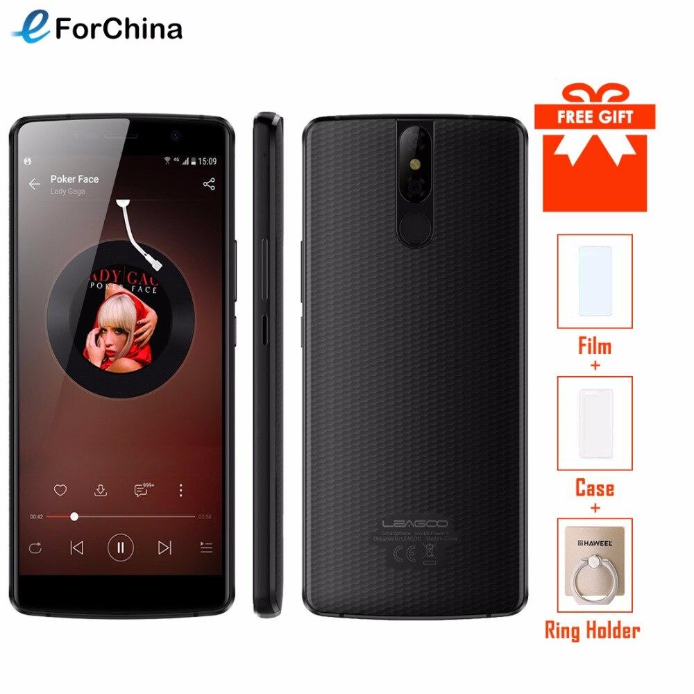 LEAGOO Мощность 5 смартфон 5,99 FHD + 18:9 Оперативная память 6 ГБ Встроенная память 64 ГБ Android 8,1 MT6763 Восьмиядерный 7000 мАч двойной сзади камеры 4 г мобил...