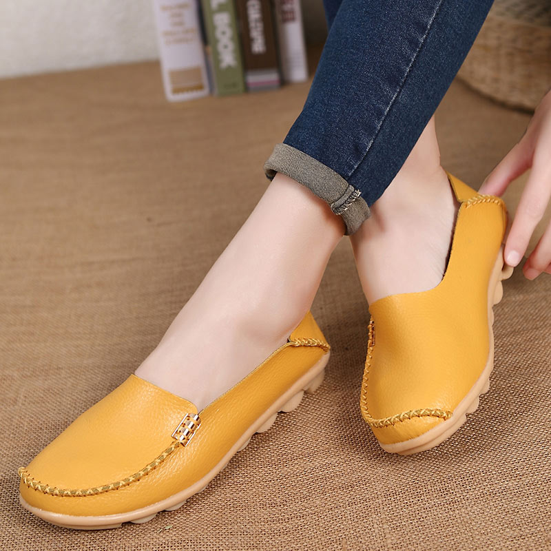 MWY Women Flats Shoes Moccasins Girls Loafers Soft Genuine Leather Ladies Fashion Casual Shoe Flats Driving Women Footwear Shoes new summer shoes women breathable air mesh woman loafers platforms female flats shoe casual wedges ladies footwear driving shoes