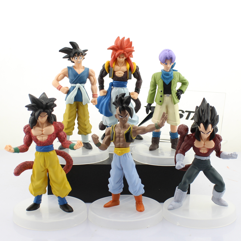 Free Shipping 6pcs Dragon Ball Z Anime Goku Solid Set the 7th Bag Packed 15-17cm PVC Action Figure Model Doll Toys GiftFree Shipping 6pcs Dragon Ball Z Anime Goku Solid Set the 7th Bag Packed 15-17cm PVC Action Figure Model Doll Toys Gift