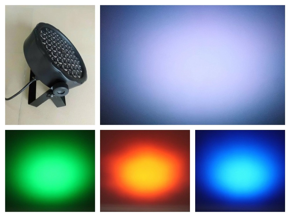 10pcs/Lot, Led par Light 54x0.5W RGB LED Par64 RGBW LED Flat Par can slim party stage disco club dj dmx led wash effect lights