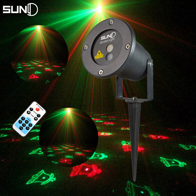 Buy suny rg laser projector remote 12 patterns outdoor waterproof led light - Outdoor laser light show ...