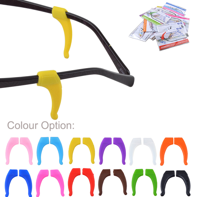 015eebf4ef9c 5pairs(10pieces) Colorful High Quality Silicone Anti-slip Holder For Glasses  Accessories Ear Hook Sports Eyeglass Temple Tip