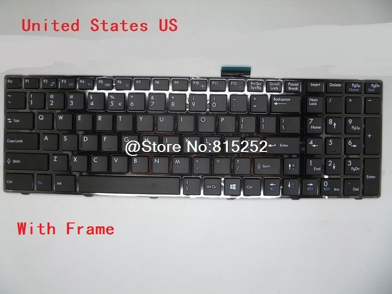 Laptop Keyboard For MSI GP70 2OD-011TW China 2OD-016BE Belgium 2OD-027US English 2OD-035RU Russian 2OD-078FR 2OD-095XFR France