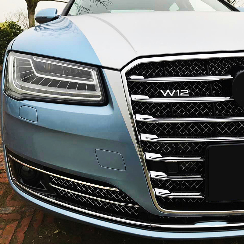 A8 Black Front Fog Grill Grille For Audi A8 2015 2018 CAR