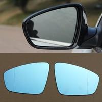 Ipoboo 2 pcs Novo de Alimentação Aquecida w/Vire Sinal Espelho Retrovisor Do Lado Azul Óculos Para Volkswagen Jetta|side view mirror|view mirror|blue side mirror -