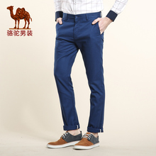 CAMEL pants 2016 spring mid waist solid color slim casual trousers commercial business pants