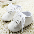 White Tassels Leather Baby Girl Shoes First Walkers Soft Soled Toddler Moccasins Newborn 0-18M Infant Kids Girls Princess Shoes