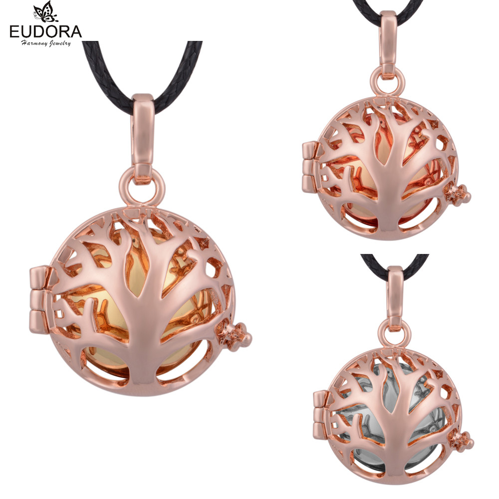 3PCS Love Gifts Family Tree Fashion Copper Cage Angel Caller Harmony Bola Ball Musical Sound Chime Bola Pregnancy Jewelry