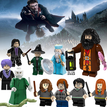 Legoingly Harry Potter and the Deathly Hallows Hermione Ron Dumbledore Rubeus Hagrid Malfoy Building Blocks Toys Figures YF30 legos for boys ninjago