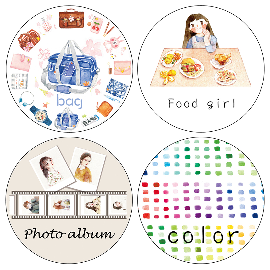 2016 New High Quality Food girl \ Photo album \Bag Japanese Washi Decorative Adhesive Tape DIY Masking Paper Tape Label Sticker 3r 4r 5r 6r a3 a4 high gloss glossy photo paper for inkjet printer photographic quality colorful graphics output album covers