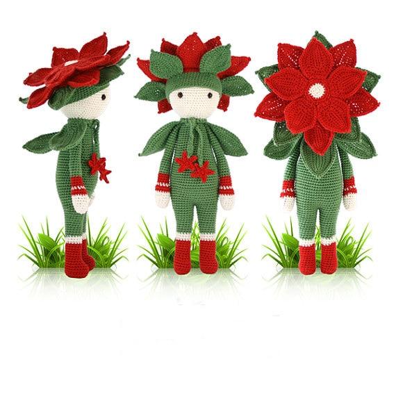 "Crochet amigurumi boneca "" natal estrela Kris """