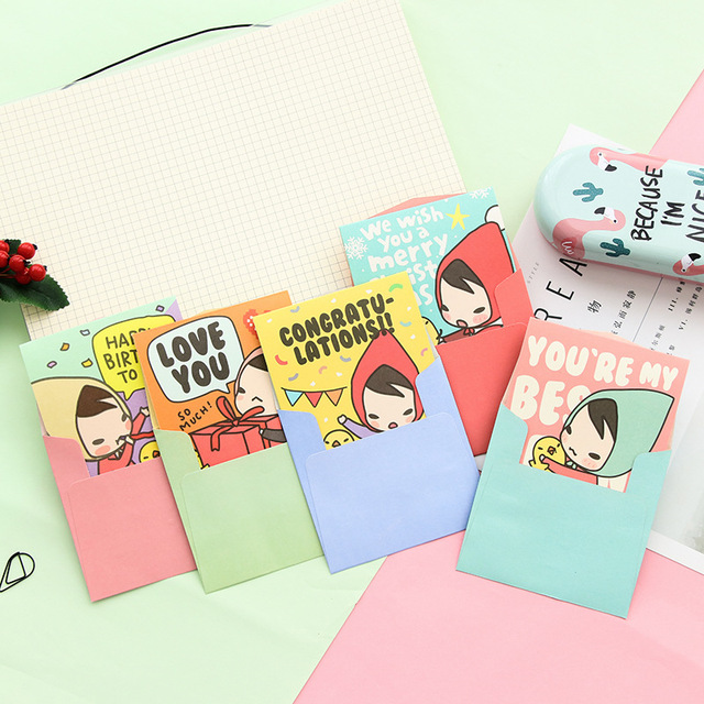 40pclot mini cartoon card christmas greeting business card 40pclot mini cartoon card christmas greeting business card creative girl bless lover colourmoves Image collections