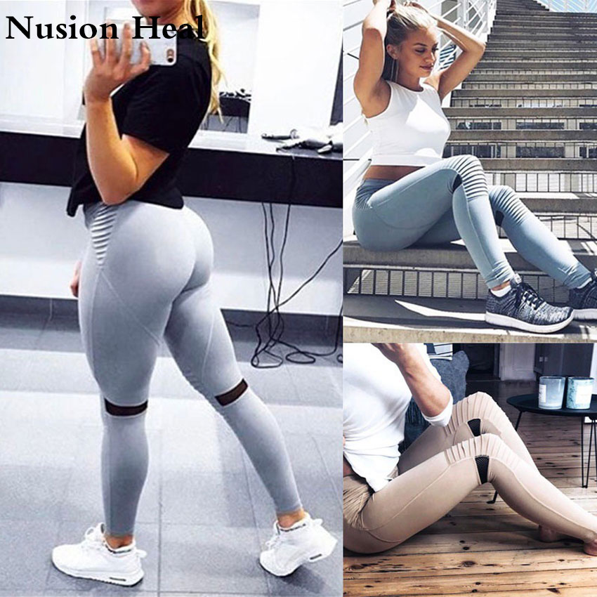 2018 Sexy Printed Women Yoga Pants Leggings Sporting Fitness Leggins For Women Elastic High Waist Leggings Quick Dry Fit Pants