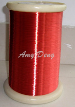 1000 meters/lot  0.13 mm red polyurethane enamelled round winding wire enameled wire QA-1-155